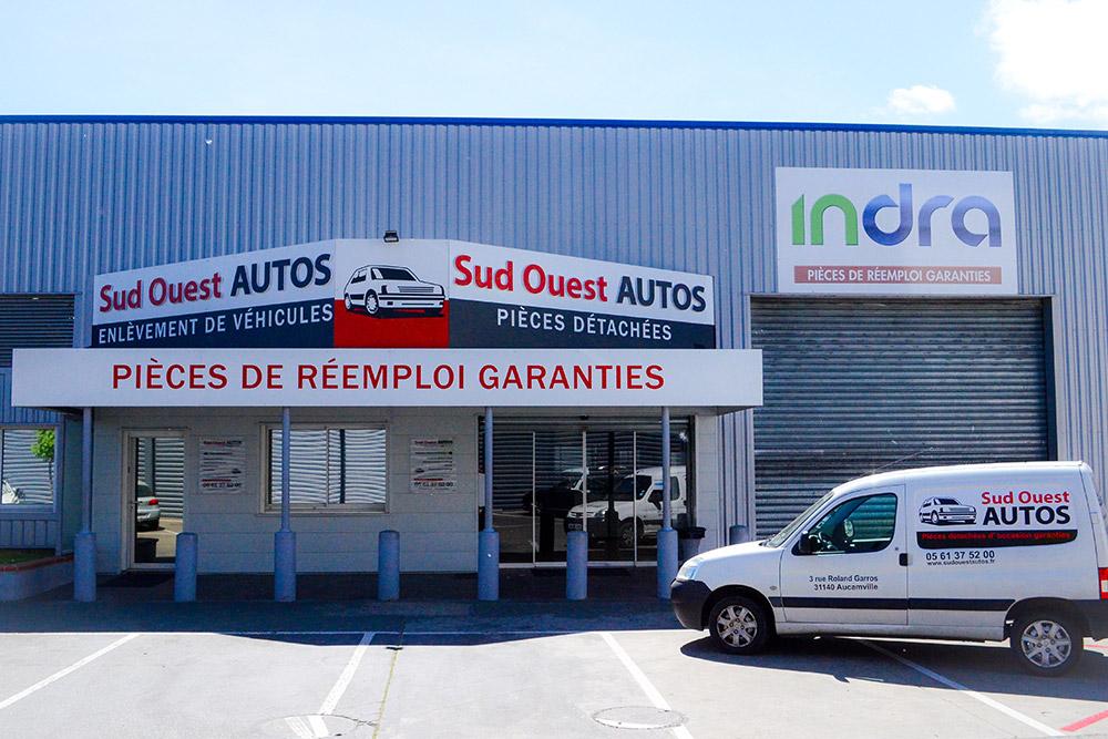 Centre VHU casse auto à Aucamville (secteur Toulouse nord, Fenouillet, Haute Garonne)